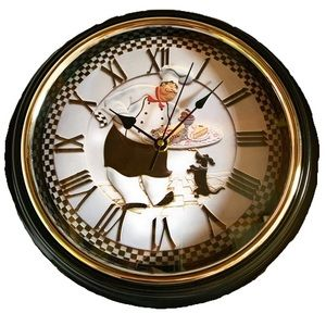 """Fat Chef 12"""" Battery Operated Wall Clock"""